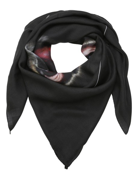 Givenchy scarf silk wool black
