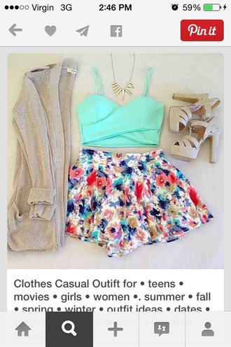 blouse t-shirt shorts summer outfits high heels necklace cardigan sweater jewels skirt underwear shoes top