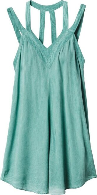 dress beach dress teal mint mint dress beach strappy back detail strappy back cover up