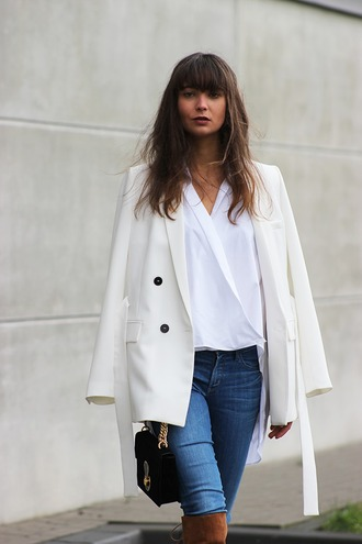mode d'amour blogger jacket shirt jeans shoes bag