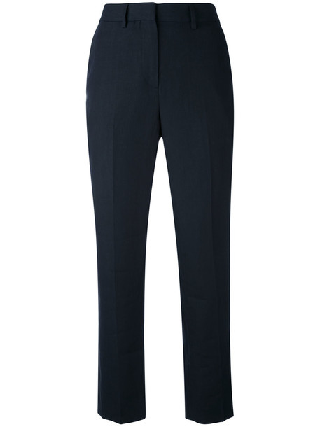 Margaret Howell cropped high women blue pants