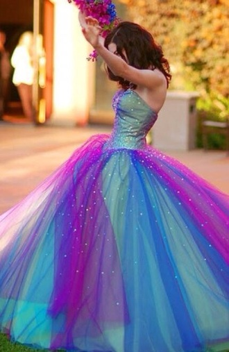 prom dress blue dress pink dress green dress ball gown dress perfecto