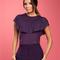 Wrap dress with knot at eva longoria