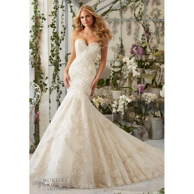 Mori Lee Wedding Dress 2801 -  Designer Wedding Dresses|Compelling Evening Dresses|Colorful Prom Dresses
