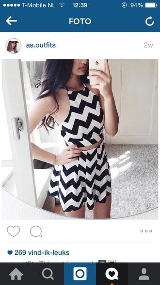 top black white crop tops skirt skorts