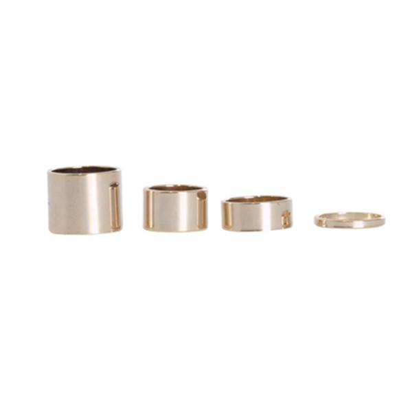 Various gold rings set