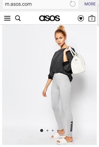 leggings grey workout leggings cotton