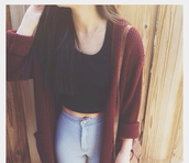 top,chic muse,jeans,sweater,pants,cardigan,crop tops,burgundy,woven,fashion,casual,tank top,black crop top,black tank top,tight jeans,slim jeans,burgundy cardigan,light blue,autumn outifts,warm cardigan autumn,warm cardigan,brown shoulder bag,long hair,vintage,vintage outfit,oversized cardigan,fall outfits,tumblr outfit,fall sweater,fall cardigan,jeans cardigan,blouse,tribal cardigan,knitted cardigan,red,long cardigan,tumblr,tumblr girl,tumblr clothes,tumblr sweater,sweater weather,pacsun,forever 21,fall colors,baggy