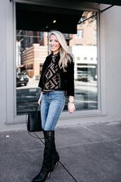 krystal schlegel,blogger,jacket,jeans,sweater,shoes,bag,coat