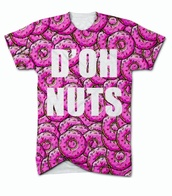 t-shirt,vans,the simpsons,donut,food,fast food,graphic tee