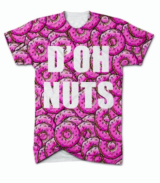 t-shirt vans the simpsons donut food fast food graphic tee