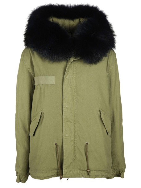 Mr & Mrs Italy parka mini green coat