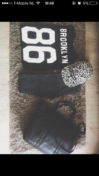 sweater brooklyn blonde figure 8 69 sweatshirt pants bag hat