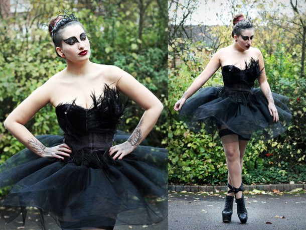 dress black swan costume costume halloween halloween costume halloween makeup halloween accessory wheretoget