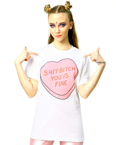 Shit bitch you is fine tee* at shop jeen
