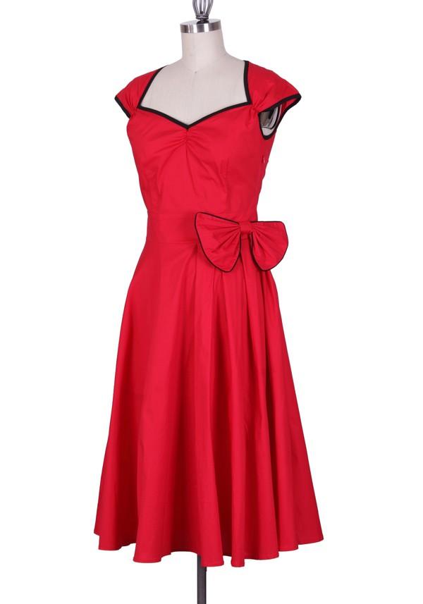 red dress party dress prom dress cute dress vintage vintage dress retro retro dress 50s style 50s style rockabilly rockabilly style audrey hepburn