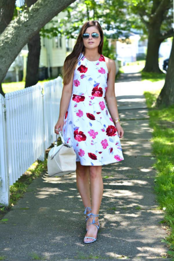 Floral Racerback Cutout Dress | Banana Republic