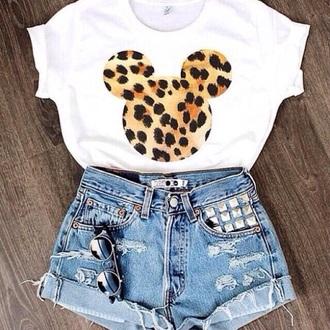 leopard print crop tops