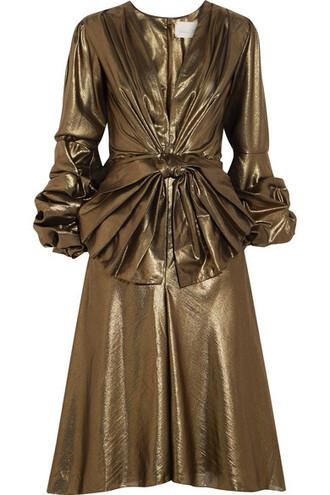 dress bow embellished gold