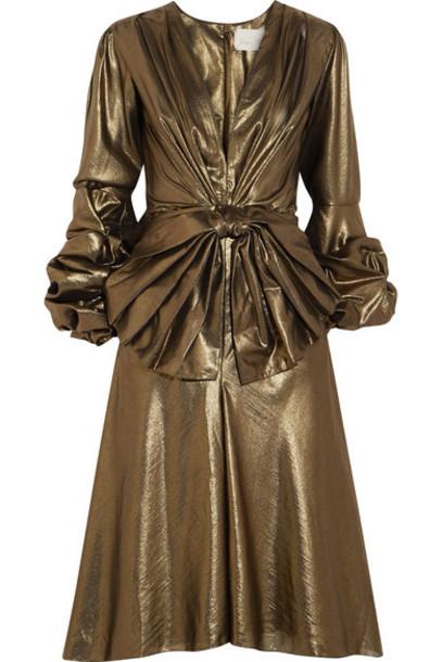 Johanna Ortiz dress bow embellished gold
