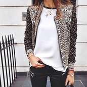 jacket,design jacket,blackberry jacket,blouse,noir,must,pattern,jewelled,black,gold,fashion,bomber jacket,amazing,coat,black and white,cute,vintage,glitter,stones,aztec,black jacket,love,gorgeous,long sleeves,blazer,white,daimonds,shirt,black brown cream jewels,brodery,balmain,embroidered,beaded,embroidered jacket,pretty,trendy,edgy,embellished,embellished jacket,white top,necklace,fall jacket,gemstone pendant,boho jacket,wanted,vest,pearl,silver,embelishment,style,streetwear,ornement,oriental print,grey sweater,studs,back,girly,girl,girly wishlist,studded jacket,studded,design,dope,down jacket,dope wishlist,jewels,jewelry,gold sequins,gold chain,arm candy,silver necklace,chain,chain necklace,sequins,sequin jacket,pants,zip,zipped pants,white t-shirt,beautiful,sexy,outfit,outfit idea,tumblr outfit,fall outfits,cute  outfits,cute top,zaful,aztec jacket,vintage jacket,gold jacket,sparkle,shiny,classy,feminine,top,brown,mathu design,clothes,tribal pattern,rhinestones,grunge,lovely,wish,girlish,boho chic,bejewelled,bejewelled jacket,white blouse,leather pants,black leather pants,women blazer,elegant blazer,elegant jacket,sweater