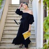 dress,lisa marie fernandez,sexy beach cover up,cover up,mytheresa,black dress,maxi dress,bubble sleeve dress,off the shoulder,off the shoulder dress