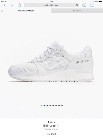 shoes asics white white sneakers sneakers style white on white asics gel lyte iii asics sneakers asics gel lyte