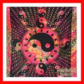 home accessory,rainbow handicraft,stars,yin yang,tie dye,tapestry,mandala,mandala wall hanging,wall decor,india love,boho,hippie,backdrop,hippie bedspread,bedspread bed bedcover,homedecor