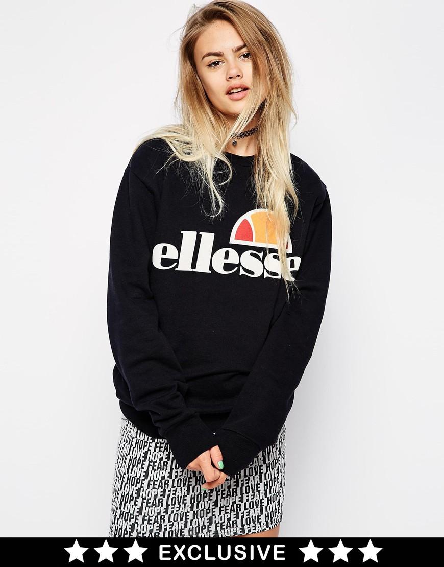 Ellesse Oversized Boyfriend Sweatshirt at asos.com