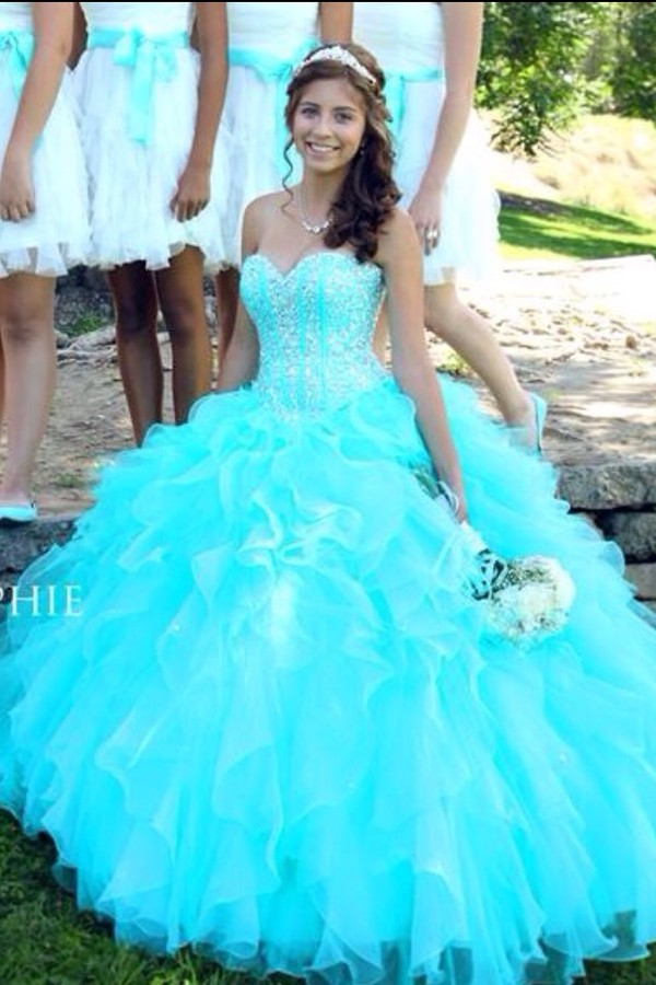 dress, jewels, sparkle, aqua, prom dress, long dress ...