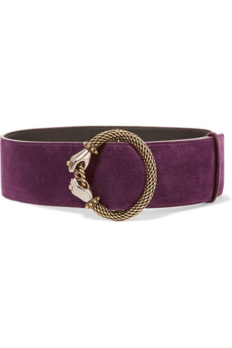embellished belt waist belt suede purple