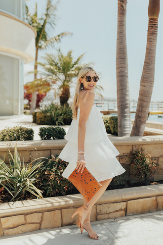 modern ensemble blogger dress jewels bag shoes sunglasses