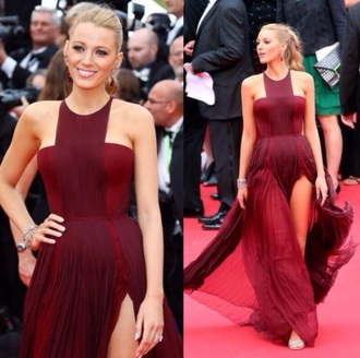 dress serena van der woodsen serena dress red dress blake lively