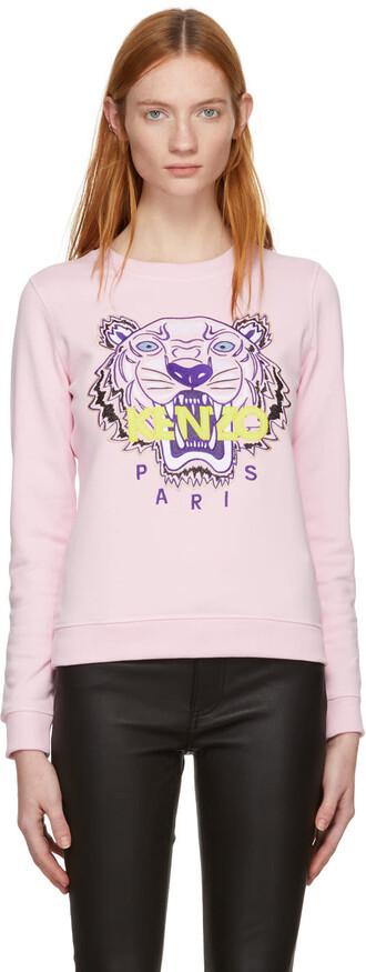 sweatshirt classic tiger pink sweater