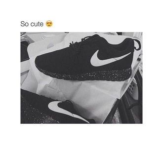 shoes nike black sparkle