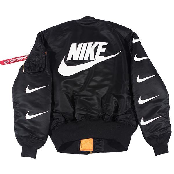 Glow in the dark alpha industries bomber jacket (black)