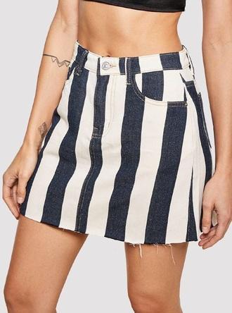 skirt girly girl girly wishlist cute denim denim skirt mini mini skirt stripes blue white