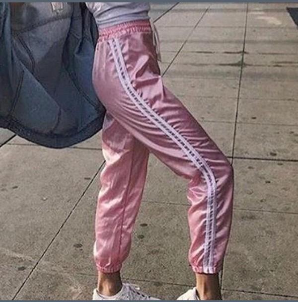 Trainer Joggers. Windsorstore Women SHEINPocket Side Striped Pants Regular  Navy pants180330706 FSJUINZ 04b222ee206
