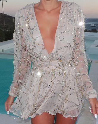 long sleeves short formal evening outfits vneck dress v neck sequins sequin dress sequin playsuit blouse dress