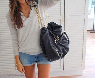 bag leather bag women shoulder bags black bags gold women leather handbags