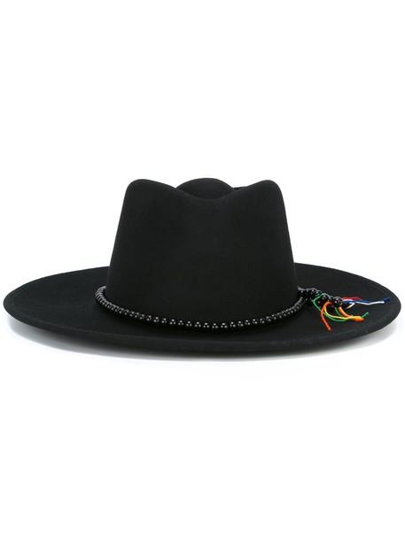 beaded hat black