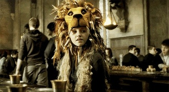 hat lion luna lovegood harry potter