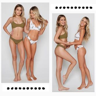 swimwear green camouflage army green ishine365 miami celeste bright celeste brightt jen arell model summer holidays 2017 bikini boys and arrows bikini top bikini bottoms