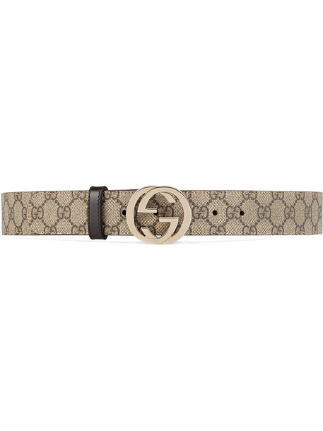 Gucci GG Supreme belt with G buckle - Nude & Neutrals