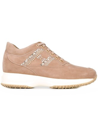 chunky sole sneakers nude shoes