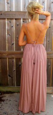dress,pink,maxi,maxi dress,clothes