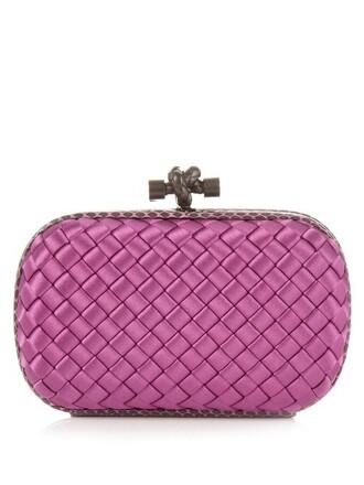snake water clutch satin pink bag