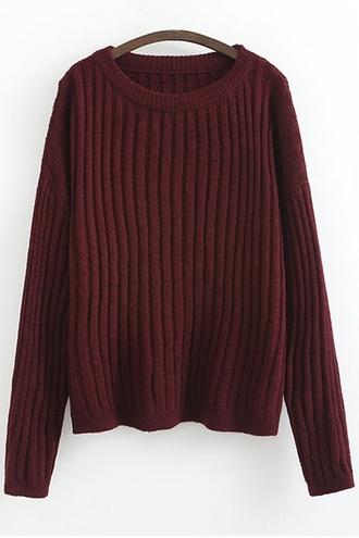 sweater zaful burgundy burgundy sweater oversized sweater