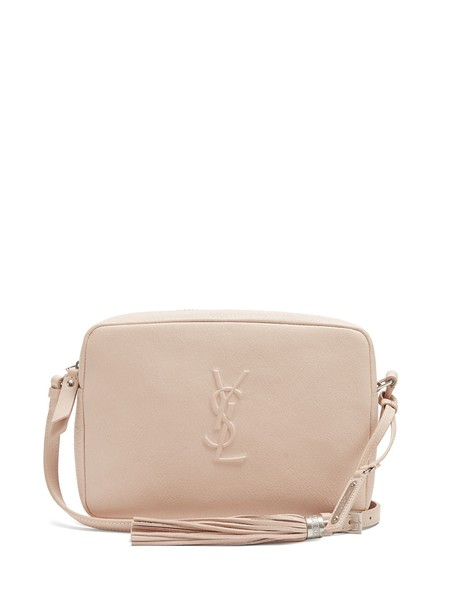 Saint Laurent cross bag leather light pink light pink