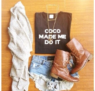 t-shirt shirt coco coco chanel summer shoes pants shorts